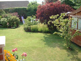 Garden of Britmead guest house, West Bay